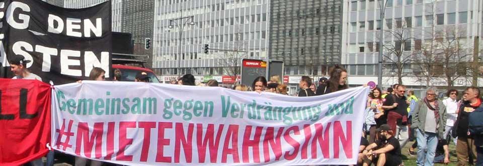 Wir machen mit bei der berlinweiten Demonstration: Gemeinsam gegen Verdrängung und #Mietenwahnsinn. Am 14. April 2018, ab 14 Uhr ab Potsdamer Platz.
