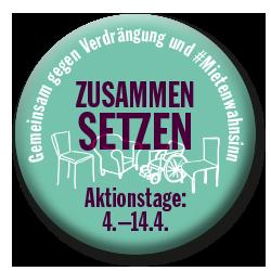Wir machen mit bei den berlinweiten Aktionstagen: Gemeinsam gegen Verdrängung und #Mietenwahnsinn. Vom 4. – 14. April 2018.